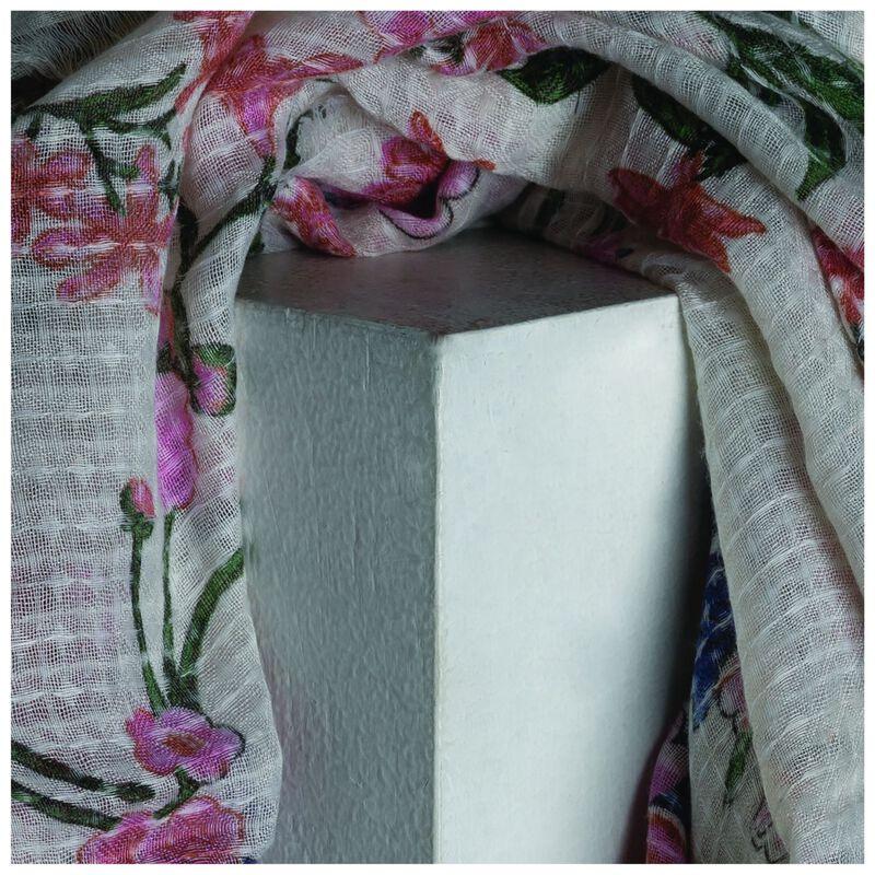 Old Khaki Natasha Floral Scarf -  milk-assorted