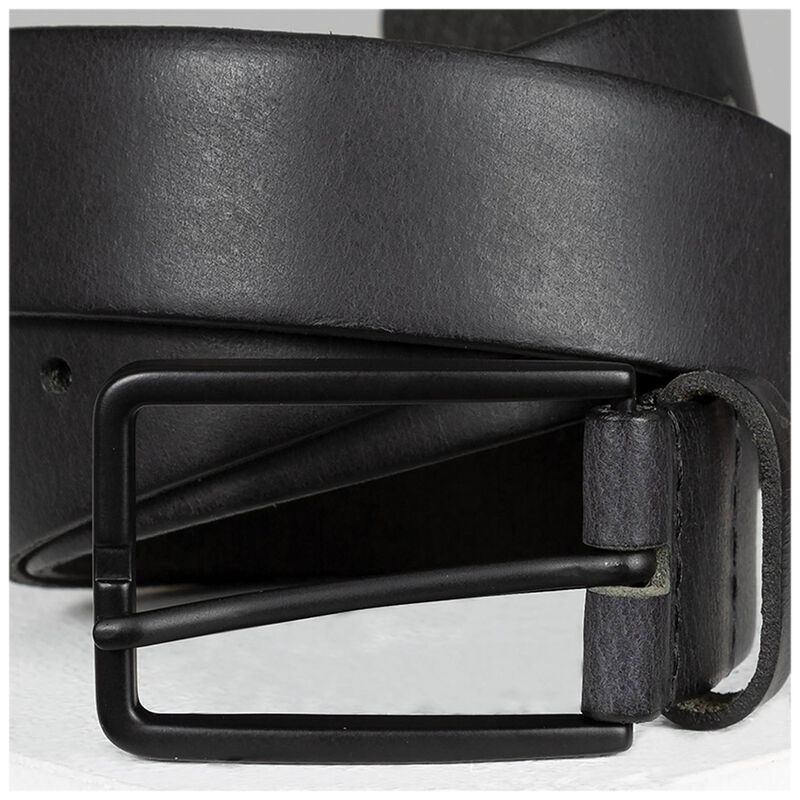 Old Khaki Elias Men's Chino Leather Belt -  black