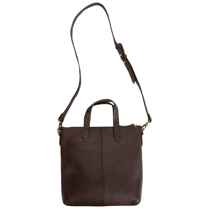 Amarone Small Shopper Leather Bag -  brown