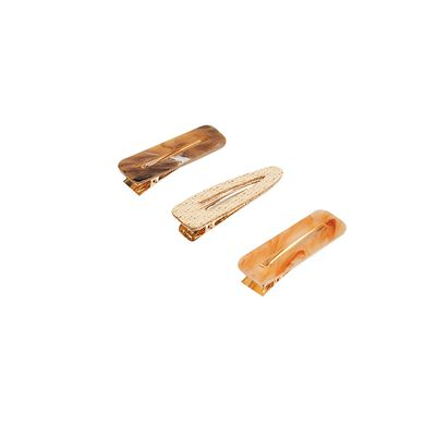 Mandile 3-Pack Straw & Resin Hair Clips