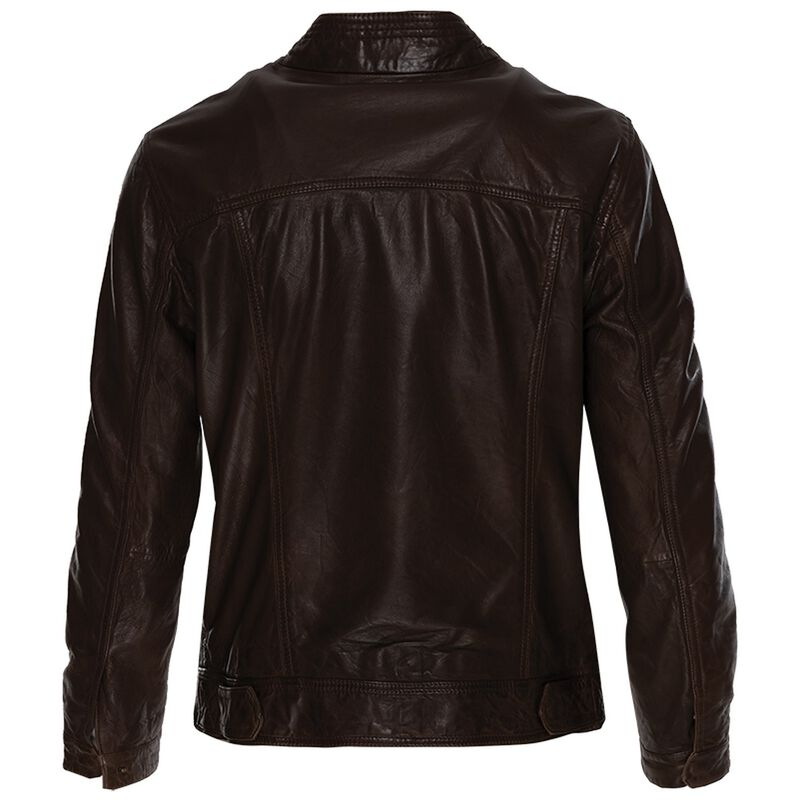 Greer Leather Jacket -  chocolate