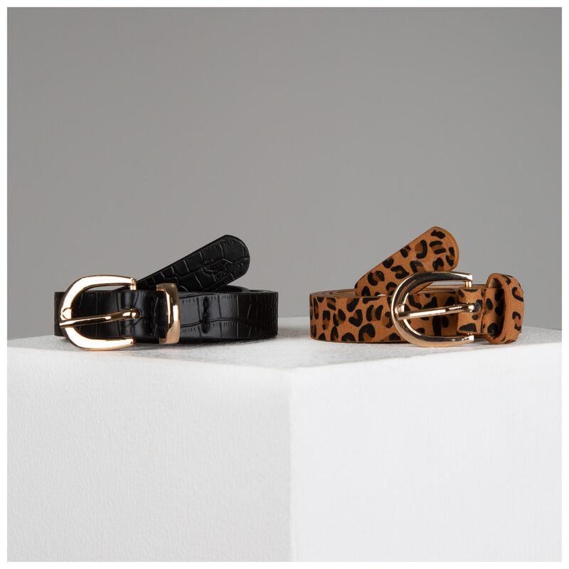 Miya Twin Pack Vegan Leather Belts