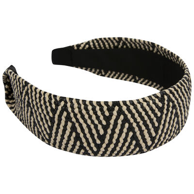 Jazlyn Zig-Zag Straw Alice Band