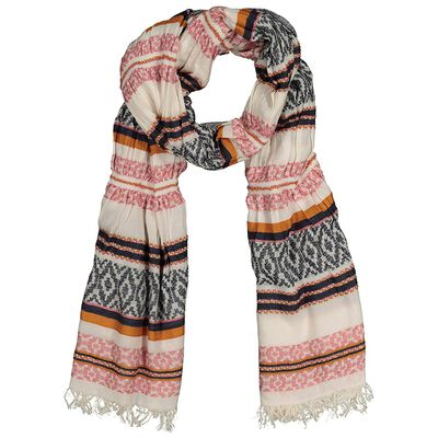 Kayleigh Textured Striped Scarf
