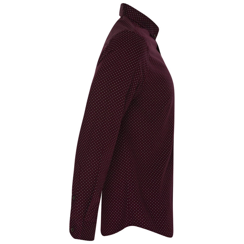 Old Khaki Men's Lucas Slim Fit Shirt  -  burgundy