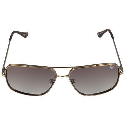 Men's Polarised Square Aviator Sunglasses