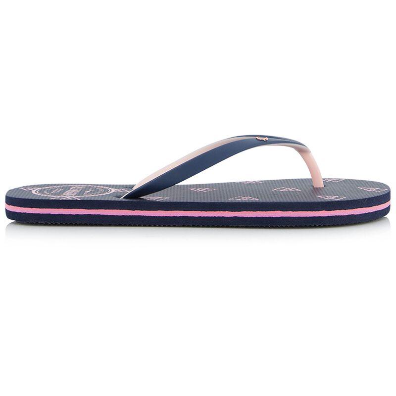 Old Khaki Women's Tide Flip Flops -  navy-flamingo