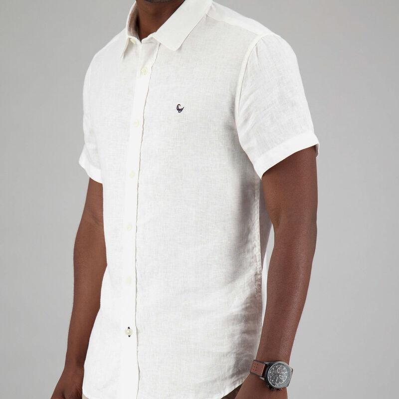 Men's Laz Linen Slim Fit Shirt -  white