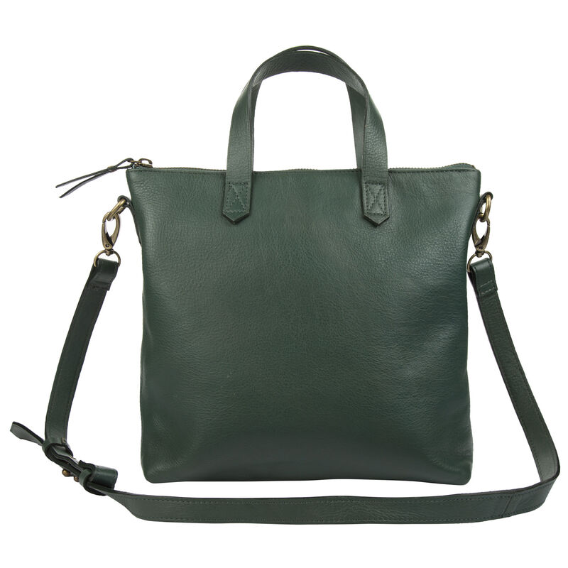 Amarone Small Shopper Leather Bag  -  emerald