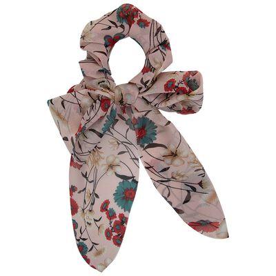 Floral & Plain 2-Pack Scrunchie Hair Ties