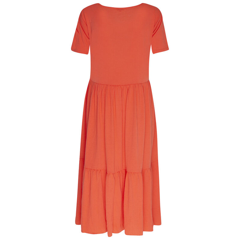 Julia Tiered Dress -  coral