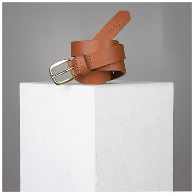 Lauryn Stitch Detail Leather Belt