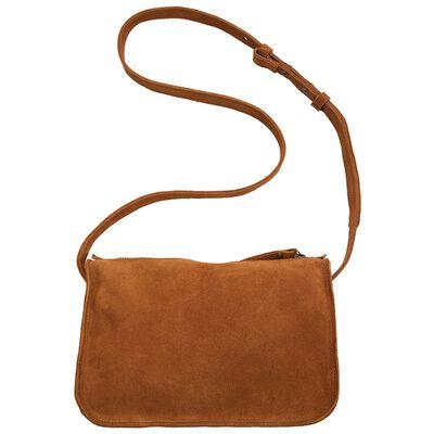 Zoey Suede Cross Body Bag