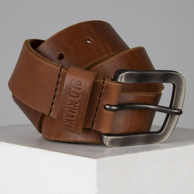 Tanner Basic Lived In Leather Belt -  tan-tan