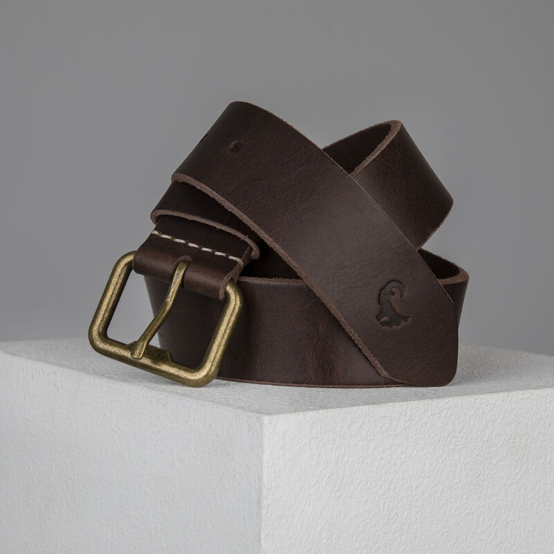 Old Khaki Alvin Leather Belt -  brown