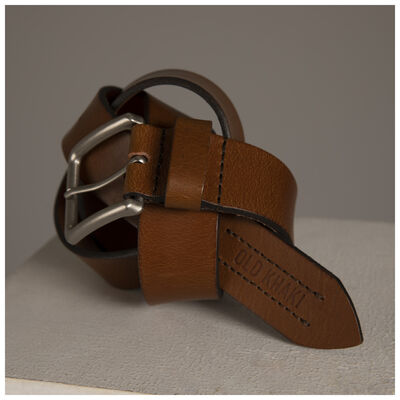 Old Khaki Men's Zain Stitch Trim Leather Belt