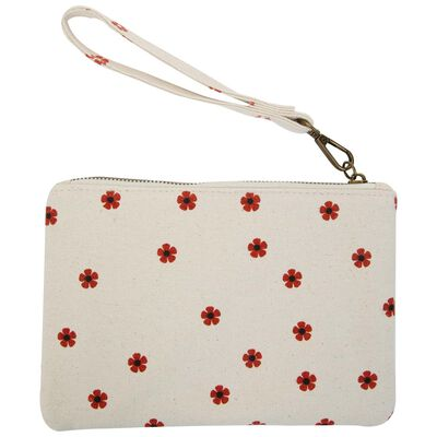 Rylee Embroidered Fabric Pouch