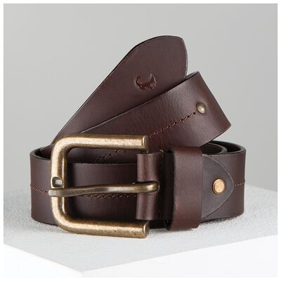 Randy Stitch Detail Basic Leather Belt