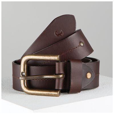 Randy Stitch Detail Basic Leather Belt