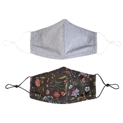 2-Pack Floral Fabric Face Masks