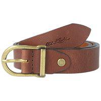 Kynlee Metal Loop Basic Leather Belt -  tan-tan
