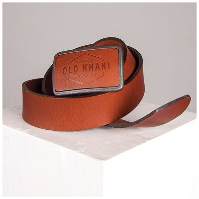 Neil Embossed Buckle Leather Belt