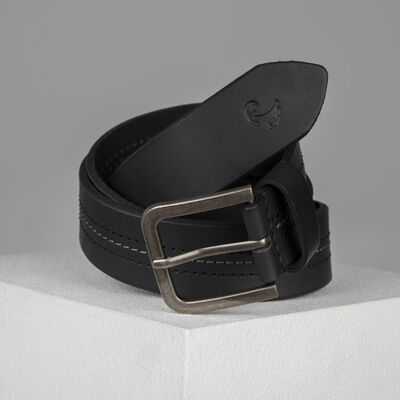 Old Khaki Cory Stitch Detail Belt