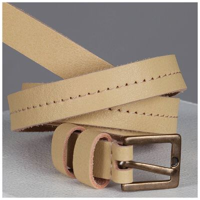 Faye Women's Skinny Leather Belt