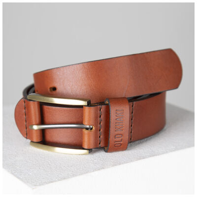 Ceasar Embossed Loop Leather Belt