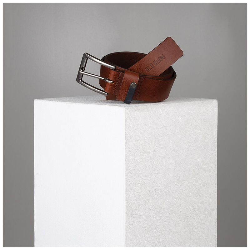 Duke Rivet Loop Detail Belt -  tan-tan