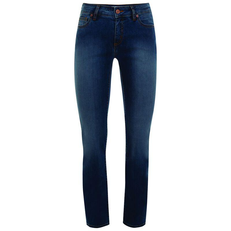 Brooklyn Women's Straight Leg Denim  -  midblue