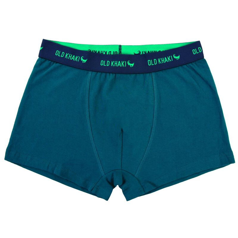 Old Khaki Mens Underwear Two-Pack with Motorcycles -  teal-navy