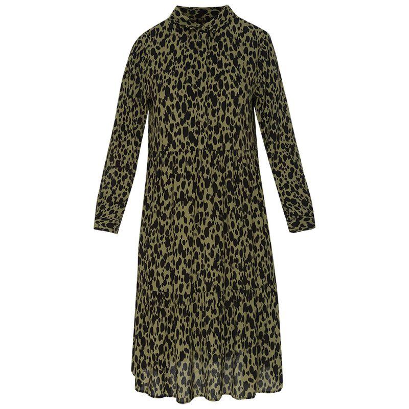 Juliette Women's Dress -  olive-black