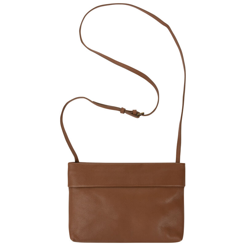 Old Khaki Women's Mary Ann Leather Fold Detail Cross Body -  tan