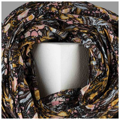 Iovae Ditsy Floral Pleated Scarf