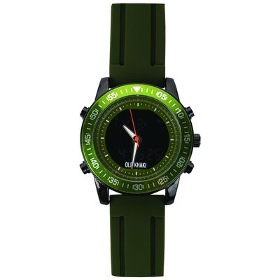 Saint Large Round Ana-Digital Silicone Watch