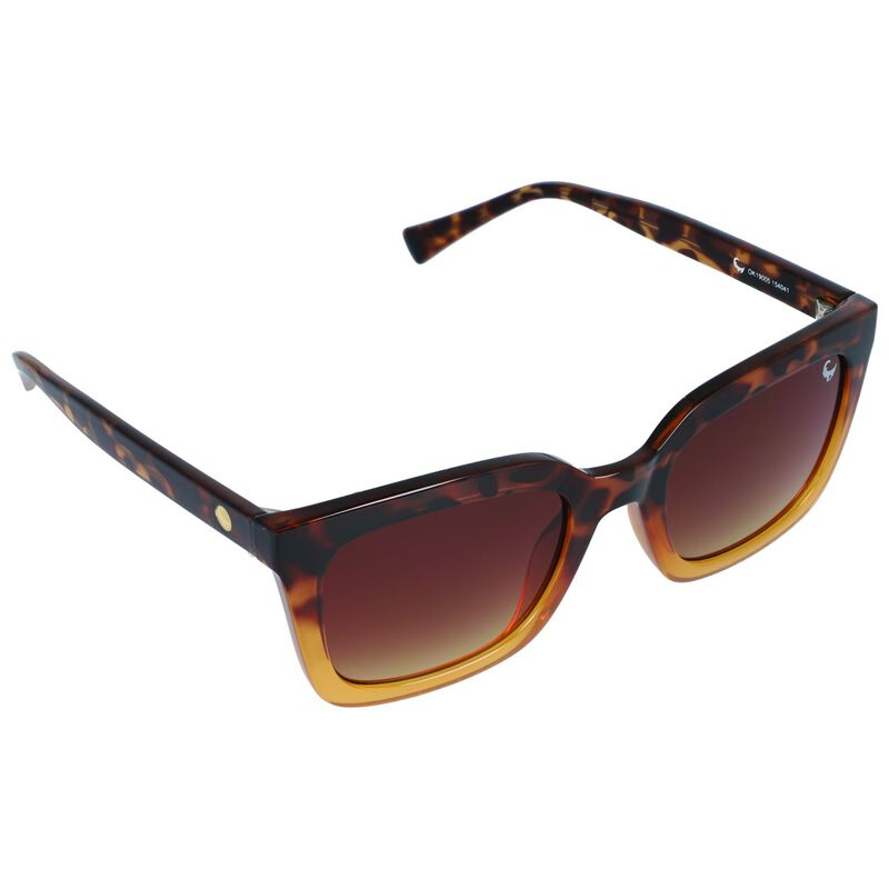 Old Khaki Ladies Square Classic Ombre Sunglasses -  brown-ochre