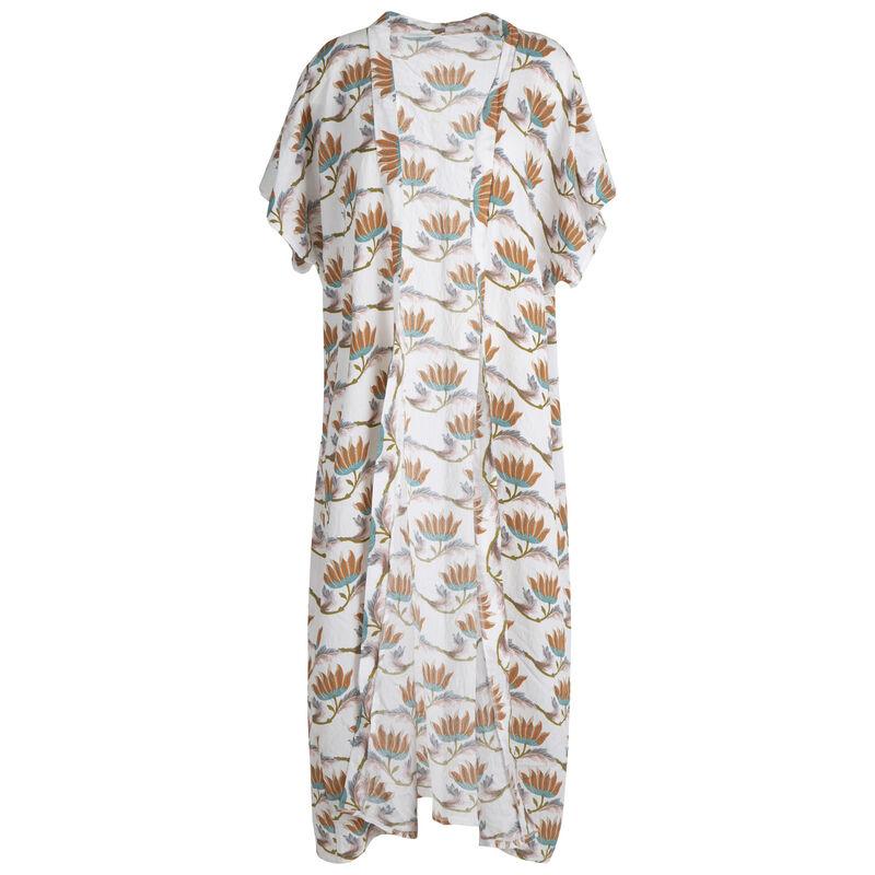 Wily Extra Length Printed Kimono -  milk-ochre