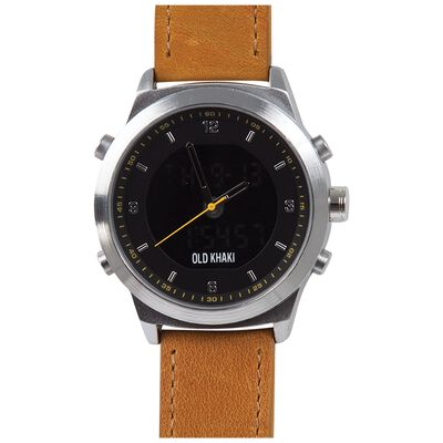 David Large Round Ana-Digital Watch