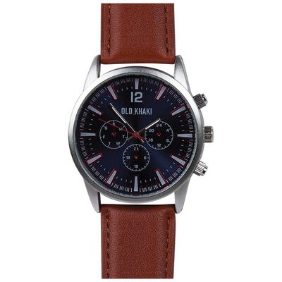 Chad Men's Large Round Aviator Watch