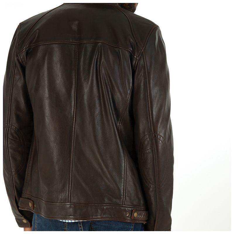 Old Khaki Men's Kenzo Leather Jacket  -  chocolate