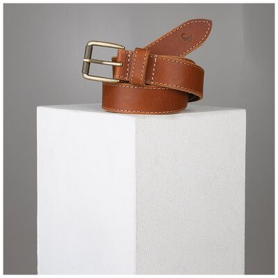 Augustin Stitch Detail Leather Belt