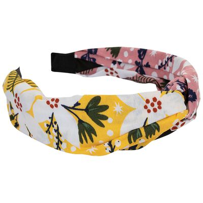 Arely Two-Tone Floral Twist Alice Band