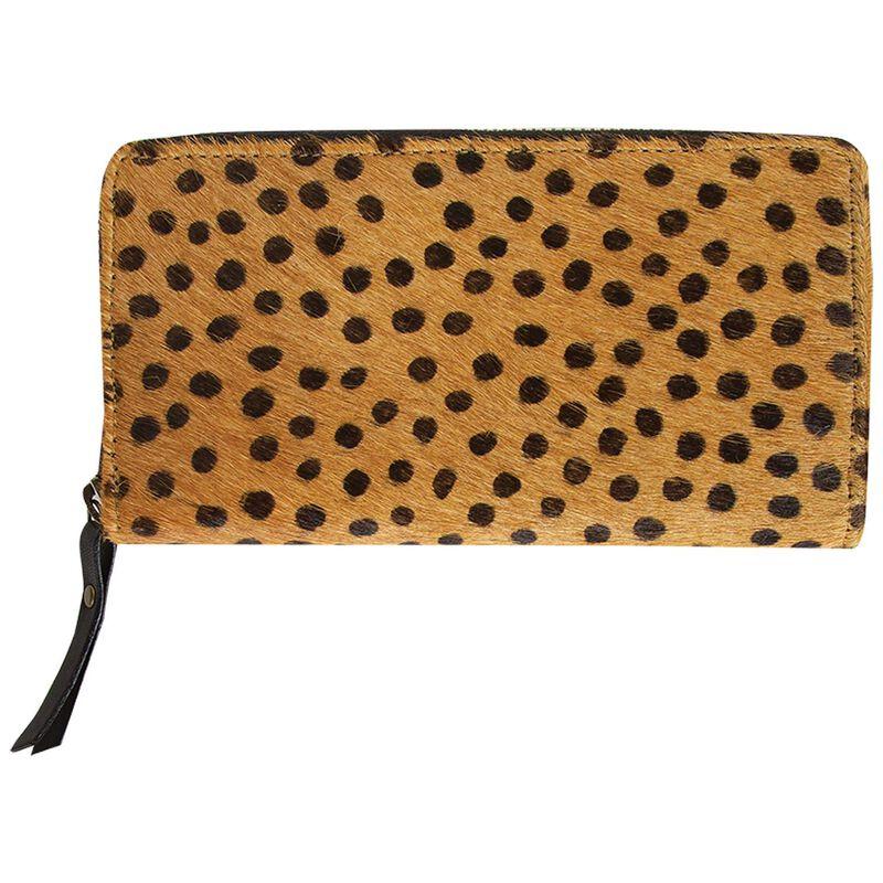 Old Khaki Keira Leather Wallet  -  tan-black