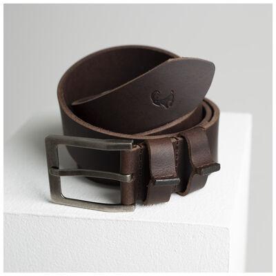Desmond Raw Edge Leather Belt