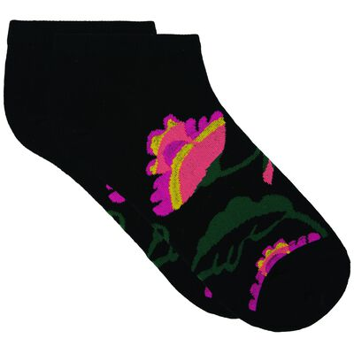 Zoe Floral Print Ankle Sock