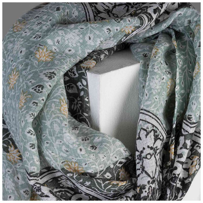 Alessandra Women's Paisley Patchwork Scarf -  green-yellow