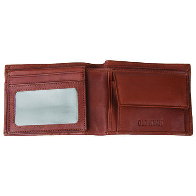 Dale Men's Fold-Over Raw Leather Wallet