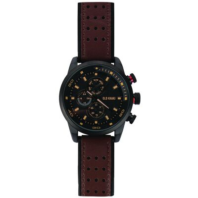 River Large Round Mock Chrono Watch