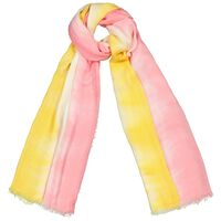 Natalia Tye Dye Scarf -  milk-yellow